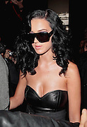 05.OCTOBER.2009 - PARIS<br /> <br /> AMERICAN POP STAR KATY PERRY WHO IS HAVING A FLING WITH RUSSELL BRAND ARRIVING AND THEN LEAVING THE YVES SAINT LAURENT FASHION PARTY AS PART OF PARIS FASHION WEEK.<br /> <br /> BYLINE: EDBIMAGEARCHIVE.COM<br /> <br /> *THIS IMAGE IS STRICTLY FOR UK NEWSPAPERS &amp; MAGAZINES ONLY*<br /> *FOR WORLDWIDE SALES &amp; WEB USE PLEASE CONTACT EDBIMAGEARCHIVE-0208 954 5968*