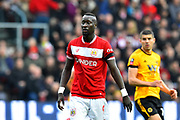 Famara Diedhiou (9) of Bristol City during the The FA Cup 5th round match between Bristol City and Wolverhampton Wanderers at Ashton Gate, Bristol, England on 17 February 2019.