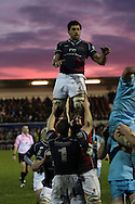 Chris Walker in action during a line-out during the Green King IPA Championship match between London Scottish &amp; Worcester at Richmond, Greater London on 20th December 2014<br /> <br /> Photo: Ken Sparks | UK Sports Pics Ltd<br /> London Scottish v Worcester, Green King IPA Championship, 20th December 2014<br /> <br /> &copy; UK Sports Pics Ltd. FA Accredited. Football League Licence No:  FL14/15/P5700.Football Conference Licence No: PCONF 051/14 Tel +44(0)7968 045353. email ken@uksportspics.co.uk, 7 Leslie Park Road, East Croydon, Surrey CR0 6TN. Credit UK Sports Pics Ltd