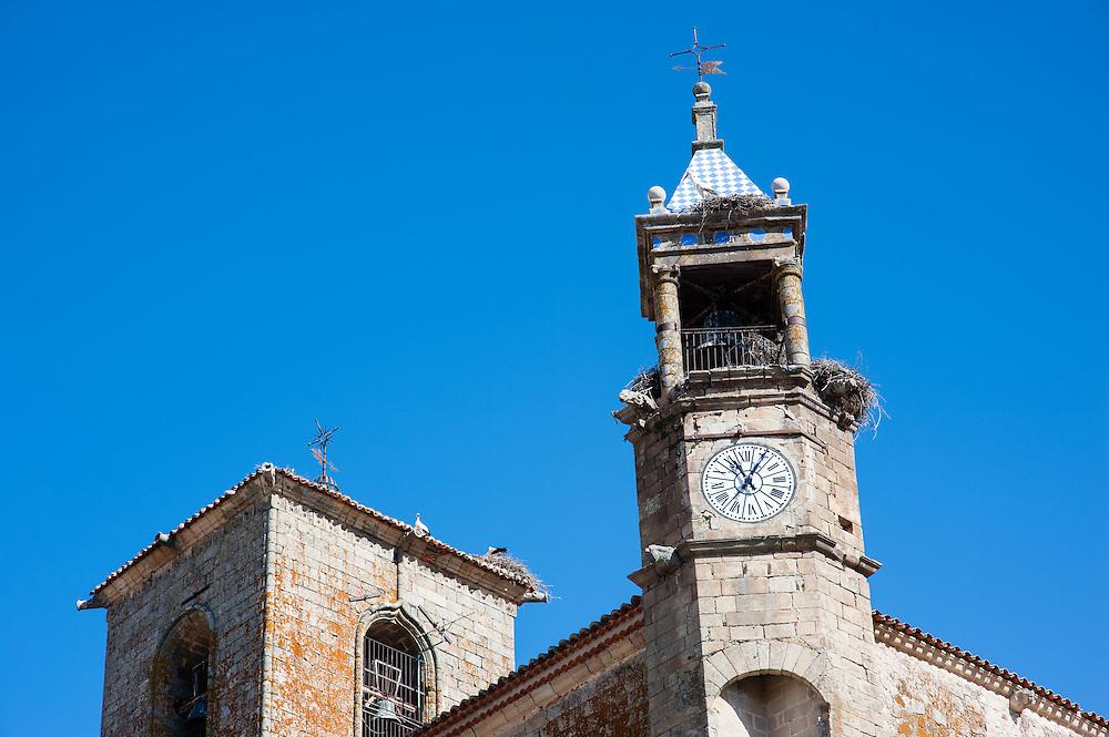 Clock tower in Trujillo (Spain)