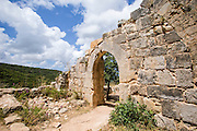 Israel, Upper Galilee, The Montfort (German: Starkenberg) a ruined crusader fortress The site is now a national park inside the nature reserve of Keziv stream