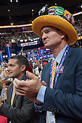 GOP delegates attending the third day of the Republican National Convention July 20, 2016 in Cleveland, Ohio.