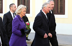 14.03.2016, Zagreb, CRO, der Britische Kronprinz Charles und seine Frau Camilla besuchen Kroatien, im Bild British Crown Prince Charles and his wife Camilla, the Duchess of Cornwall, are visiting Croatia as part of a regional tour that will include Serbia, Montenegro and Kosovo. They visited the historic Upper Town and restoration of buildings that were damaged during bombing in 1991. EXPA Pictures © 2016, PhotoCredit: EXPA/ Pixsell/ Robert Anic<br /> <br /> *****ATTENTION - for AUT, SLO, SUI, SWE, ITA, FRA only*****
