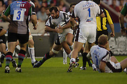Twickenham, GREAT BRITAIN, Tigers , George CHUTER on the charge, during the Guinness Premiership match, NEC Harlequins and Leicester Tigers, at the Twickenham Stoop Stadium, ENGLAND, 23/09/2006. [Photo, Peter Spurrier/Intersport-images].
