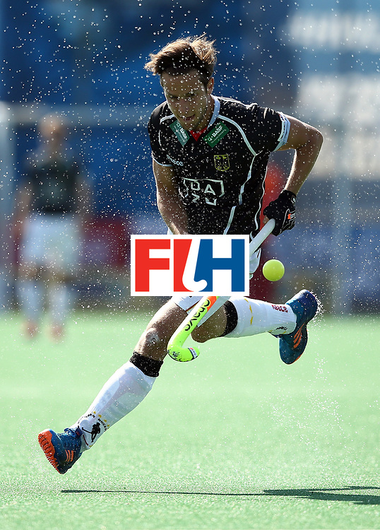 JOHANNESBURG, SOUTH AFRICA - JULY 11:  Marco Miltkau of Germany in action during day 2 of the FIH Hockey World League Semi Finals Pool B match between Germany and Egypt at Wits University on July 11, 2017 in Johannesburg, South Africa.  (Photo by Jan Kruger/Getty Images for FIH)