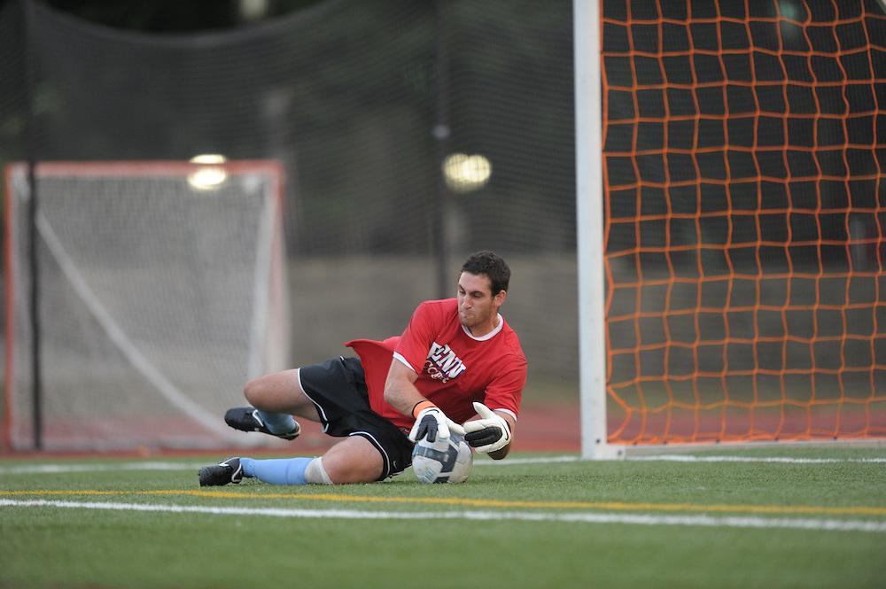 PHILADELPHIA - SEPTEMBER 3:  Penn men's soccer defeated St Joe's 2-0 on September 3, 2010 at St. Joseph's University in Philadelphia, Pennsylvania. (Photo by Drew Hallowell)