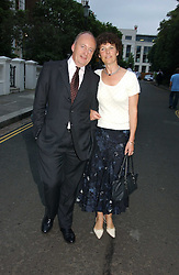 SHAUN & CAMILLA WOODWARD, she is the daughter of Sir Tim Sainsbury at Sir David & Lady Carina Frost's annual summer party held in Carlyle Square, Chelsea, London on 5th July 2006.<br />