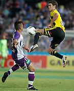 Wellington Phoenix's Tony Lochhead attacks the ball against Perth Glory during the A-Leagues minor semi final held at nib Stadium, Perth, Australia on Saturday 7 April 2012. Photo Theron Kirkman / Photosport.co.nz
