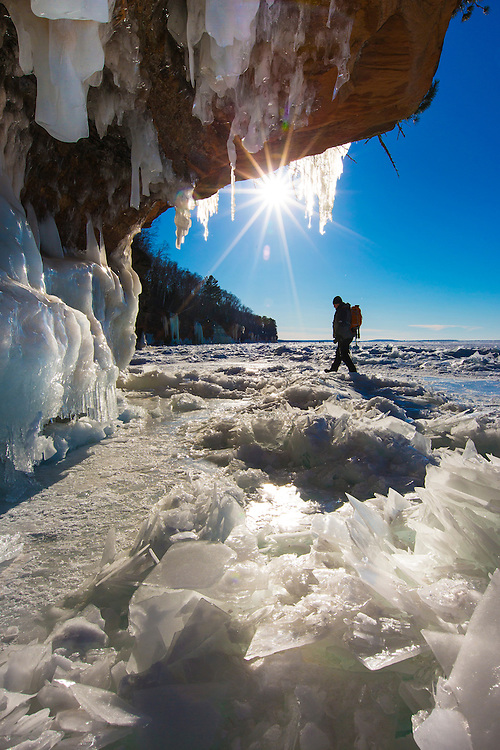 Apostle Islands Ice Caves near Bayfield, Wisconsin.  Photo by Mike Roemer / Mike Roemer Photography 920-217-8021