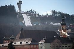 23.12.2014, Bergisel Schanze, Innsbruck, AUT, FIS Ski Sprung Weltcup, 63. Vierschanzentournee, Vorberichte, im Bild Übersicht auf die Sprungschanze am innsbrucker Bergisel // Overview on the ski jumping hill during preparation of 63rd Four Hills Tournament of FIS Ski Jumping World Cup at the Bergisel Hill in Innsbruck, Austria on 2014/12/23. EXPA Pictures © 2014, PhotoCredit: EXPA/ Johann Groder
