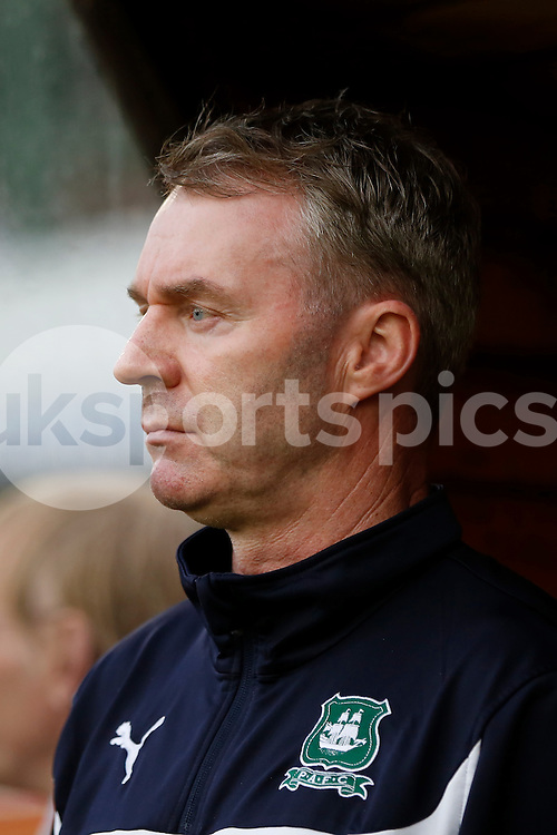 Plymouth Argyle manager John Sheridan during the Sky Bet League 2 Play Off 1st Leg match between Plymouth Argyle and Wycombe Wanderers at Home Park, Plymouth, England on 9 May 2015. Photo by Mark Hawkins.