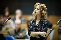 Nederland. Den Haag, 19 juni 2007.<br /> Agnes Kant, SP<br /> Debat in de Tweede kamer inzake het beleidsprogramma van het vierde kabinet Balkenende. De fractievoorzitters in de Tweede Kamer debatteren met premier Balkenende over het op donderdag 14 juni 2007 gepresenteerde beleidsprogramma van het kabinet Balkenende IV. ( vier / 4 ) Het definitieve beleidsprogramma van het kabinet, dat verder invulling geeft aan het regeerakkoord, Dit programma is gemaakt aan de hand van de honderd dagen die het kabinet in het land doorbracht.<br /> Foto Martijn Beekman <br /> NIET VOOR TROUW, AD, TELEGRAAF, NRC EN HET PAROOL