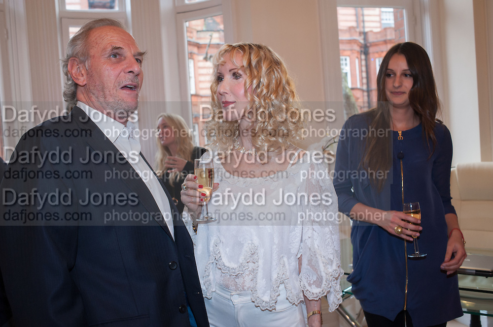 MARK SHAND; BASIA BRIGGS; CARLY VINCENT, Party given by Basia Briggs and Richard Briggs at their home in Chelsea. London. 14 May 2012