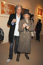 TARKA CORDELL and ANITA PALLENBERG at a private view of work by Tarka Cordell and Piers jackson held at the Barney Cordell Gallery, 90 Lots Road, London SW10 on 11th December 2007.<br />