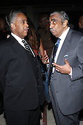 l to r: Rev. Al Sharpton and Congressman Charles Rangel at The Amsterdam News 100th Anniversary Gala held at the David H. Koch Theater at Lincoln Center on November 30, 2009 in New York City. © Terrance Jennings / Retna Ltd.