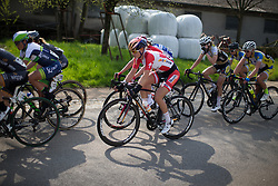 Amalie Dideriksen (DEN) of Boels-Dolmans Cycling Team rides mid-pack during the second, 110.1km road race stage of Elsy Jacobs - a stage race in Luxembourg in Garnich on May 1, 2016.