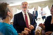 Republican presidential candidate Newt Gingrich makes a campaign stop at the Cedar Rapids Country  Club in Cedar Rapids, Iowa, August 4, 2011.