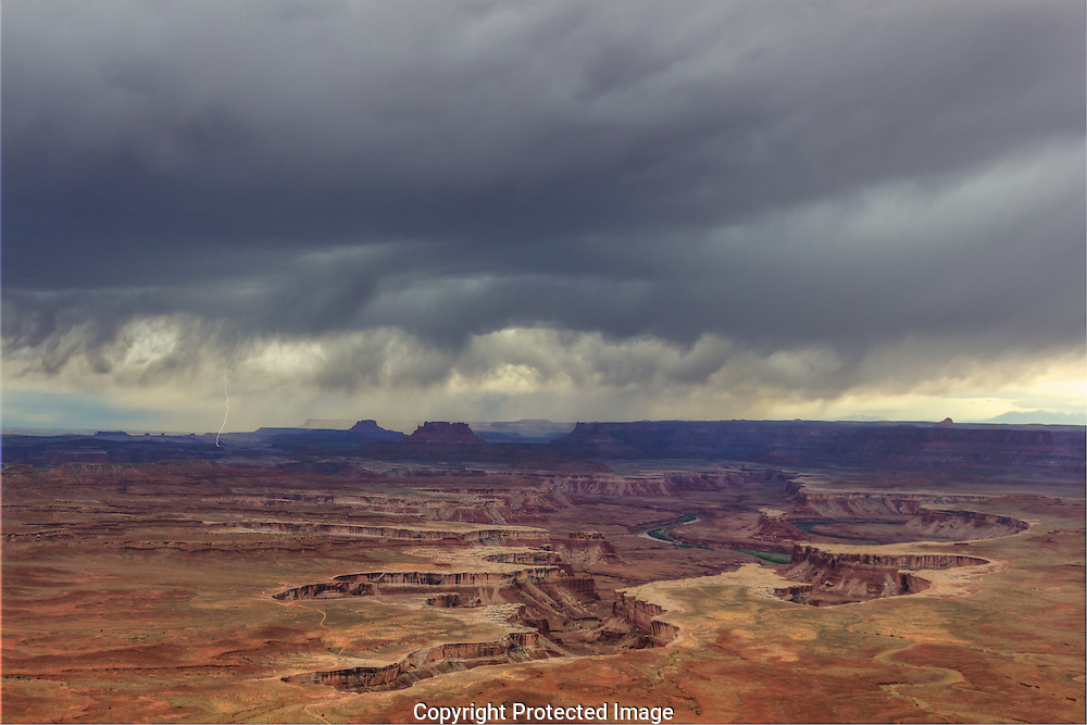 Spring storm over the Island in the Sky District of  Canyonlands National Park