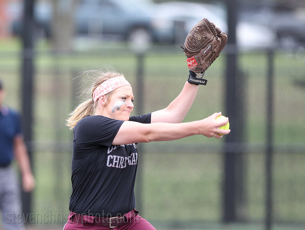 April 18, 2015: The St. Mary's University Rattlers play against the Oklahoma Christian University Lady Eagles at Tom Heath Field at Lawson Plaza on the campus of Oklahoma Christian University.