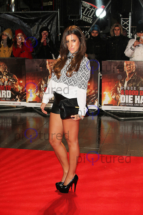 Gabriella Ellis, A Good Day To Die Hard - UK Film Premiere, Empire Cinema Leicester Square, London UK, 07 February 2013, (Photo by Richard Goldschmidt)