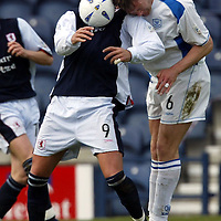 Raith Rovers v St Johnstone...10.04.04<br />Ian Maxwell and Sebastian Ferrero<br /><br />Picture by Graeme Hart.<br />Copyright Perthshire Picture Agency<br />Tel: 01738 623350  Mobile: 07990 594431