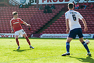 Adam Hammill of Barnsley slots home the ball for the first goal during the Sky Bet League 1 Playoff Semi Final First Leg at Oakwell, Barnsley<br /> Picture by Matt Wilkinson/Focus Images Ltd 07814 960751<br /> 14/05/2016