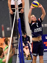 21-11-2015 NED: Advisie/SSS - ARBO Rotterdam, Barneveld<br /> SSS wint met 3-1 (25-13, 24-26, 25-13, 25-18) van Rotterdam / Nikita Artamonov #1 of Rotterdam