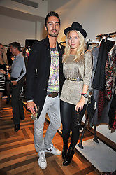 MARISSA MONTGOMERY and HUGO TAYLOR at a party hosted by Petra Ecclestone at Matches, 87 Marylebone High Street, London on 7th September 2009.