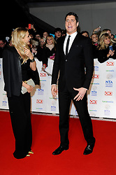 Tess Daly with Vernon Kay arrives at The National Television Awards Ceremony 2014, The O2 Arena, Greenwich,  London, United Kingdom. Wednesday, 22nd January 2014. Picture by i-Images