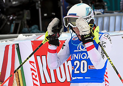 28.12.2017, Hochstein, Lienz, AUT, FIS Weltcup Ski Alpin, Lienz, Slalom, Damen, 2. Lauf, im Bild Carmen Thalmann (AUT) // Carmen Thalmann of Austria reacts after her 2nd run of ladie's Slalom of FIS ski alpine world cup at the Hochstein in Lienz, Austria on 2017/12/28. EXPA Pictures © 2017, PhotoCredit: EXPA/ Erich Spiess