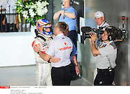 Grand Prix d'Australie de formule 1..Melbourne 28 mars 2010.. course. ..Photo: Stéphane Mantey/ L'Equipe *** Local Caption *** button (jenson) - (gbr) -..whitmarsh (martin)