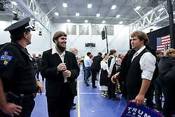 Moderate Amish of Ellfort, PA in attendance at a rally of Republican presidential candidate Donald Trump in Mannheim, Lancaster County, PA , on October 1, 2016.