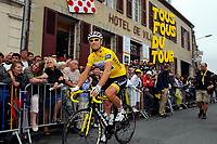 CYCLING - TOUR DE FRANCE 2011 - STAGE 8 - Aigurande > Super-Besse Sancy (189 km) - 07/07/2011 - PHOTO : JULIEN CROSNIER / DPPI - THOR HUSHOVD (NOR) / TEAM GARMIN - CERVELO