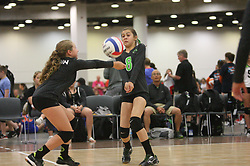 GJNC - July 2018 - Detroit, MI - 11 Nationals bronze - Marin (black) - Mavs (white) - Photo by Wally Nell/Volleyball USA