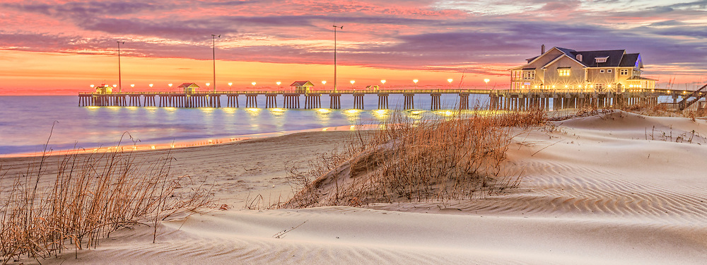 Early morning sunrise at Jeanette's fishing pier in Nags Head North Carolina.