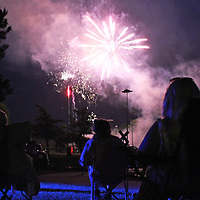 """Fireworks explode over the Johnny """"Hoss"""" Noe Sportsplex. Smithville's 12-hour 4th of July celebration included live entertainment, political speaking, vendors and watermelon eating and seed spitting competitions."""