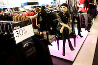 4 October, 2008.  Items on sale at the Bloomingdale's department store on 59th street and Lexingon ave. As the financial crisis spread last month, many retailers hit the panic button, offering more generous discounts than they did at the same time last year. But the promotions did little to convince cautious shoppers to open their wallets.<br /> <br /> ©2008 Gianni Cipriano for The Wall Street Journal<br /> cell. +1 646 465 2168 (USA)<br /> cell. +1 328 567 7923 (Italy)<br /> gianni@giannicipriano.com<br /> www.giannicipriano.com