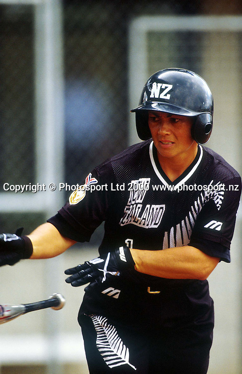 Jackie Smith from the NZ Womens Softball team, during a match between NZ v Japan, 2000. Photo: PHOTOSPORT