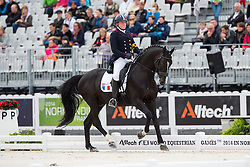 Nathalie Bizet, (FRA), Exquis Onassis - Individual Test Grade IV Para Dressage - Alltech FEI World Equestrian Games™ 2014 - Normandy, France.<br /> © Hippo Foto Team - Jon Stroud <br /> 25/06/14