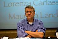 Roma 8 Settembre 2013<br /> Assemblea  in difesa della Costituzione.<br /> Maurizio Landini, segretario generale Fiom-Cgil,