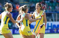 DEN HAAG - Rabobank World Cup Hockey 2014 .  Samantha Flanagan.  Semi final Australia vs USA 2-2 , Austr. wins after shoot outs . COPYRIGHT KOEN SUYK