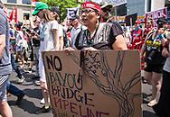 Cherri Foytlin marching in the Climate March in Washignton D.C.