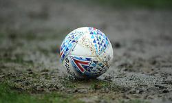 Parts of the pitch appear water logged from heavy down pour- Mandatory by-line: Nizaam Jones/JMP - 15/02/2020 - FOOTBALL - Jonny-Rocks Stadium - Cheltenham, England - Cheltenham Town v Leyton Orient - Sky Bet League Two