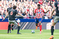 Atletico de Madrid Thomas Teye and Athletic Club San Jose during La Liga match between Atletico de Madrid and Athletic Club and Wanda Metropolitano in Madrid , Spain. February 18, 2018. (ALTERPHOTOS/Borja B.Hojas)