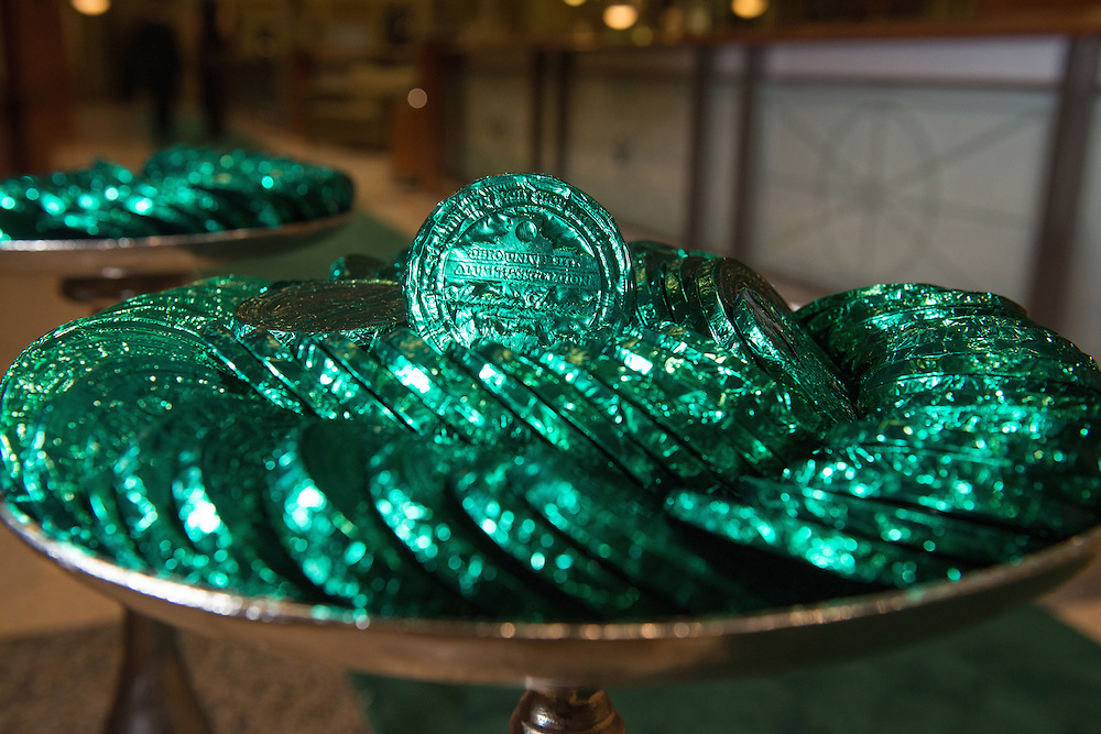 Complementary chocolates are on display outside the 2016 Alumni Awards Gala at Ohio University's Baker Center Ballroom on Friday, October 07, 2016.