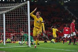 01.12.2011, Old Trafford, Manchester, ENG, PL, Viertelfinale, Manchester United FC vs Crystal Palace FC, im Bild Crystal Palace's Glenn Murray celebrates scoring the winning second goal against Manchester United during the football match of Englisch Football League Cup, Quarter-Final, between Manchester United FC and Crystal Palace FC at Old Trafford, Manchester, ENG on 2011-12-01. EXPA Pictures © 2011, PhotoCredit: EXPA/ Sportida/ David Rawcliff..***** ATTENTION - OUT OF ENG, GBR, UK *****