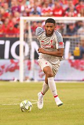 July 28, 2018 - Ann Arbor, MI, U.S. - ANN ARBOR, MI - JULY 28: Liverpool Defender Joe Gomez (12) in action during the ICC soccer match between Manchester United FC and Liverpool FC on July 28, 2018 at Michigan Stadium in Ann Arbor, MI. (Photo by Allan Dranberg/Icon Sportswire) (Credit Image: © Allan Dranberg/Icon SMI via ZUMA Press)