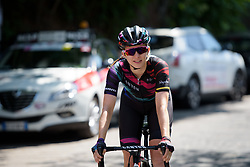 Alexis Ryan makes her way to the start line of Stage 9 of the Giro Rosa - a 122.3 km road race, between Centola fraz. Palinuro and Polla on July 8, 2017, in Salerno, Italy. (Photo by Sean Robinson/Velofocus.com)