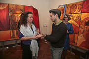 Belinda Hanson and Mark Seiltz, The Real Dream, private view for an exhibition of work by Michael Rogatchi. Cork St. London.  5 December 2006. ONE TIME USE ONLY - DO NOT ARCHIVE  © Copyright Photograph by Dafydd Jones 248 CLAPHAM PARK RD. LONDON SW90PZ.  Tel 020 7733 0108 www.dafjones.com