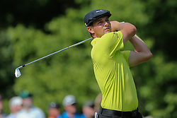 September 2, 2018 - Norton, Massachusetts, United States - Bryson DeChambeau tees off the 16th hole during the third round of the Dell Technologies Championship. (Credit Image: © Debby Wong/ZUMA Wire)